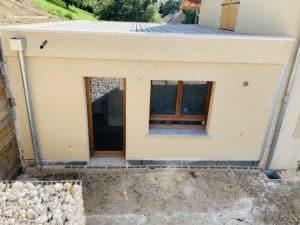 Ravalement de façade sur extension