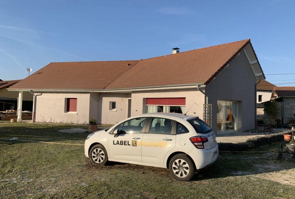 Ravalement de façades sur Euromac a Les Abrets